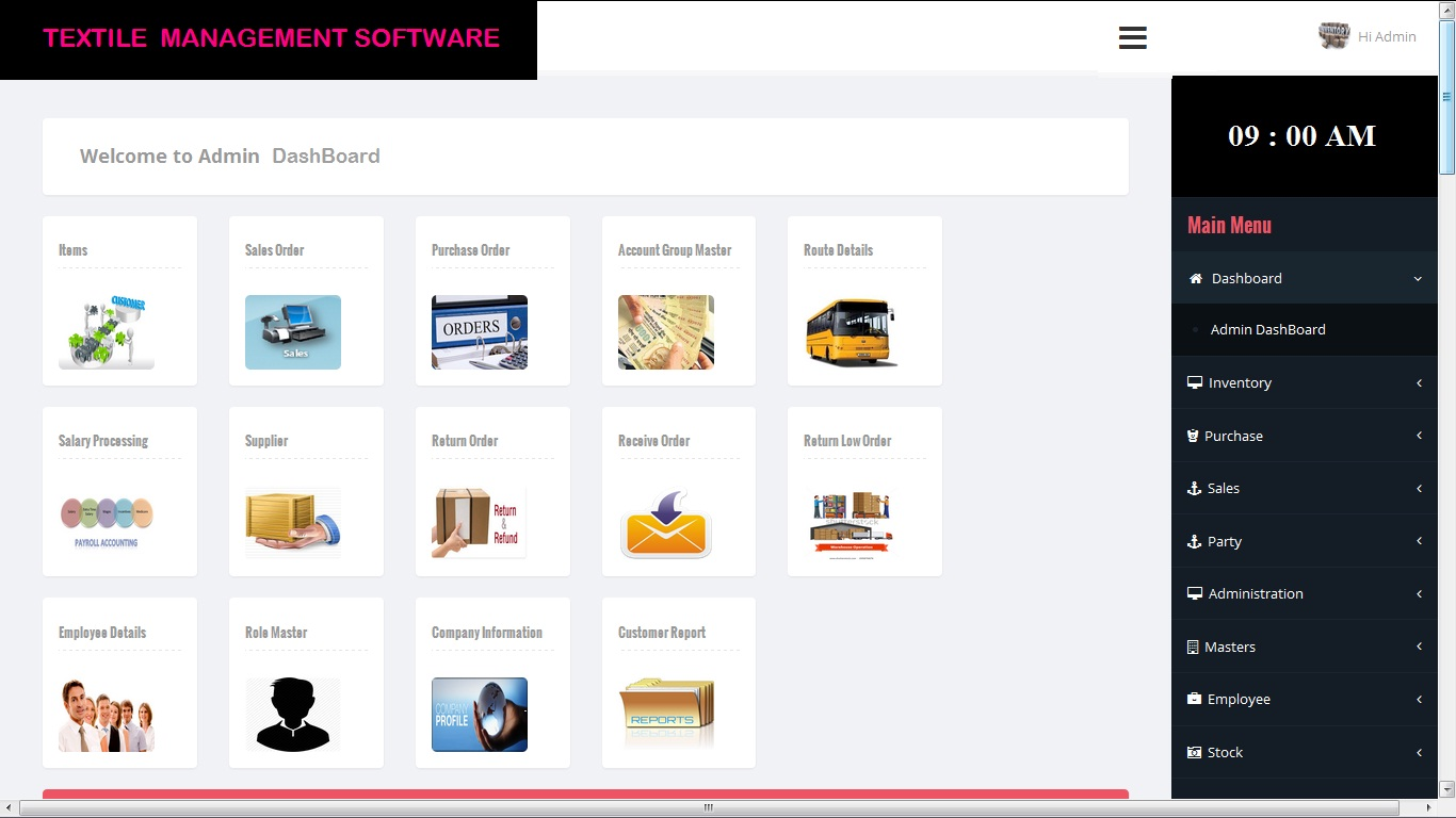 ERP Textiles Management Software
